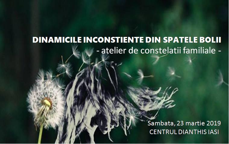 DINAMICILE INCONSTIENTE DIN SPATELE BOLII - atelier de Constelații Familiale